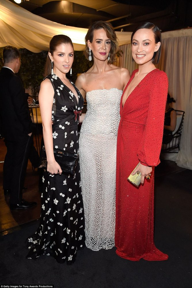 anna kenrick in miu miu pamela in rodarte and olivia wilde in michael kors