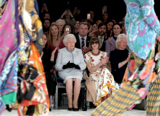 Royal-visit-to-London-Fashion-Week