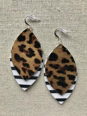 faux leather earring courtesy pinterest
