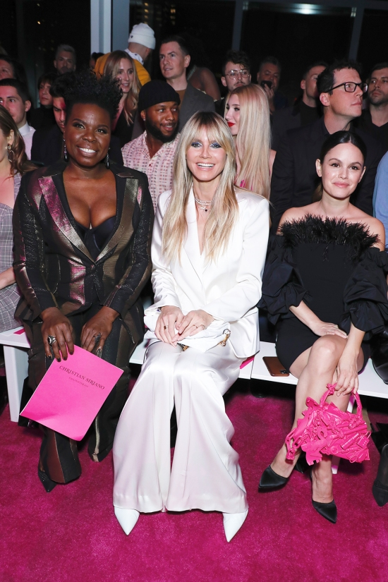 Christian Siriano show, Front Row, Fall Winter 2020, New York Fashion Week, USA - 06 Feb 2020